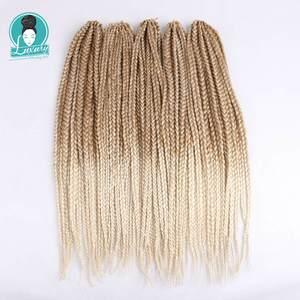 """Image 1 - Luxe pour tressage cheveux synthétiques Ombre violet brun blond 24 """"12 brins/pc 110g Jumbo Crochet boîte tresses"""