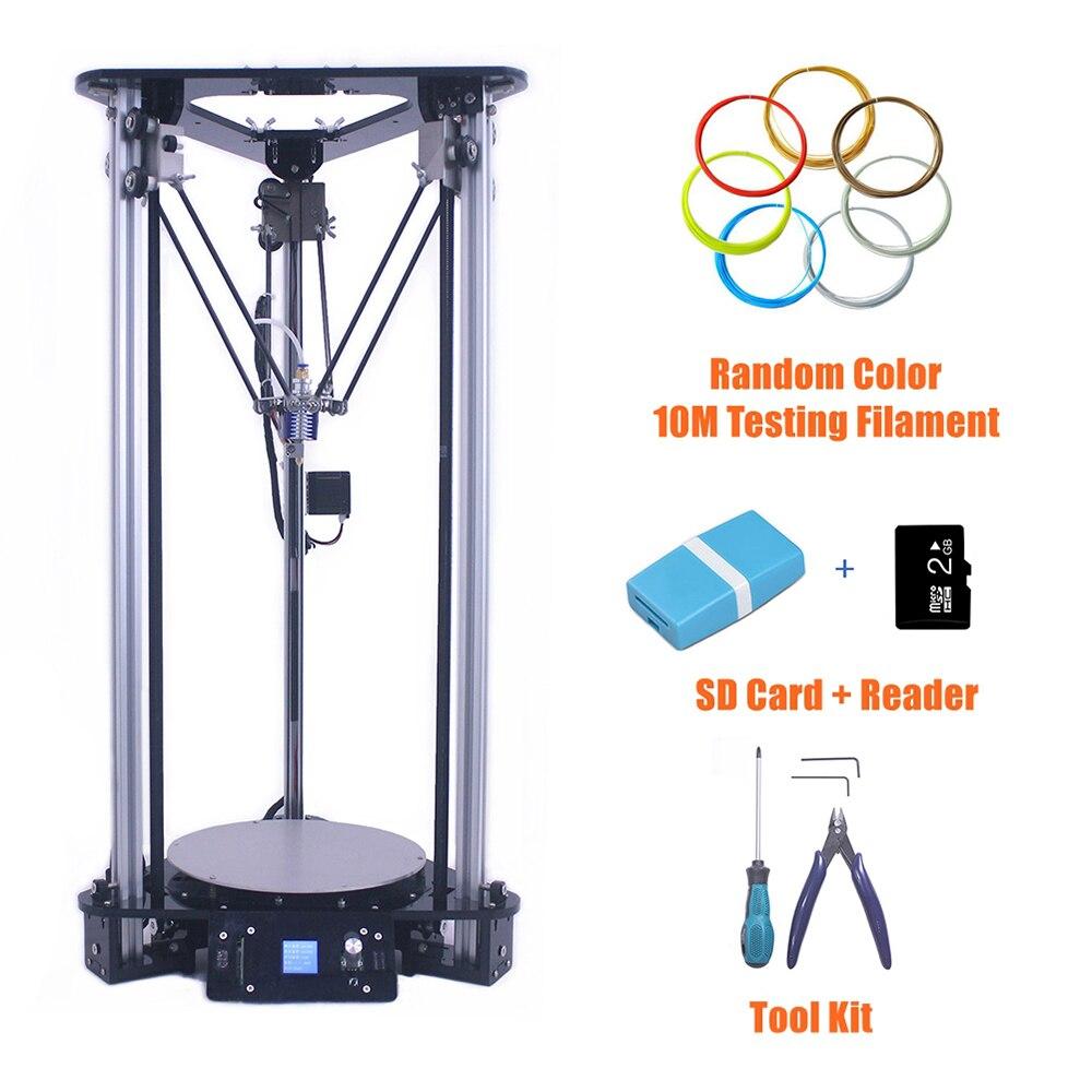 Abordable 3D Imprimante en Chine Multifonctionnel Numérique Machine D'impression Smart Nivellement Métal Kossel DIY Delta 3D Imprimante Kit
