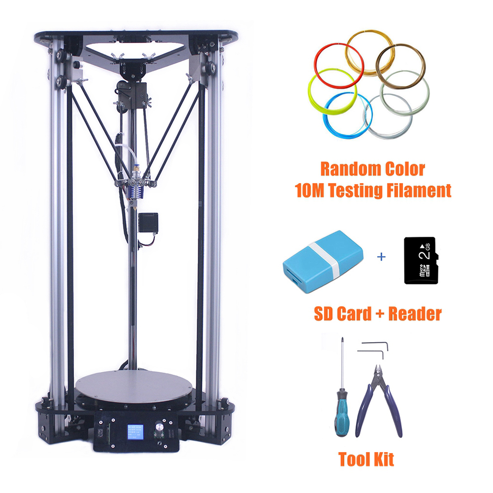 цена на Affordable 3D Printer in China Multifunctional Digital Printing Machine Smart Leveling Metal Kossel DIY Delta 3D Printer Kit