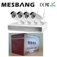 Mesbang 960 P 4ch Водонепроницаемая наружная беспроводная система камер с 1 ТБ HDD Запись