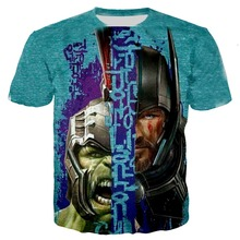 Avengers 4 Infinity War Superhero Thanos Hawkeye Hulk Tees 3D Print Kids T Shirt child Unisex Tops Summer Fashion teen T-Shirt