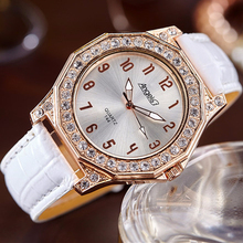 Designer Leather Strap Rhinestone Women Watches Unique Ladies Wristwatches Stylish Female Low Price Clock Bayan Saatleri Kellot