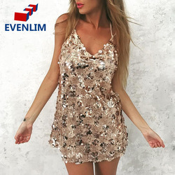 evenlim new gold sequined lace v neck party dress women beach summer dress 2017 sexy.jpg 250x250