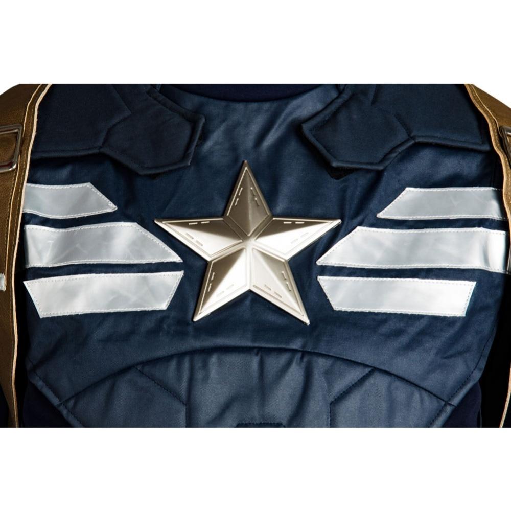 Kapitan Amerika 2 Kostyum Qış əsgəri Steve Rogers Cosplay kostyum - Karnaval kostyumlar - Fotoqrafiya 6