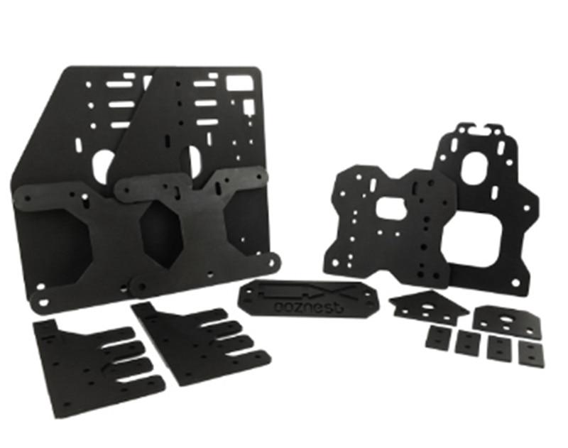 A Black Color Ooznest OX CNC ALUMINIUM plates KIT for 23 NEMA stepper motor