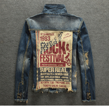 Hot Sale New Fashion Casual Worn Beggar Jean Jacket For Men 2017 Mens Jackets And Coats