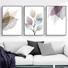 Gohipang Watercolor Abstract Leaves Canvas Paintings Print Nordic Minimalist Poster Wall Art Pictures For Living Room Bedroom