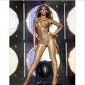 Importación de KR Manguera de Aceite Brillante Hilados Pantimedias Sexy Medias Atractivas de Las Mujeres de Baile de Fitness Leggings Lencería Estilo Beyonce wdw009