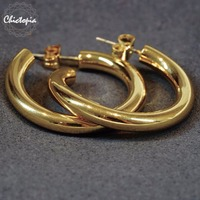 Chictopia Chunky Twisted Earrings For Women Minimalist Gold Bridal Women S Wedding Earrings 2017 Korean Fashion