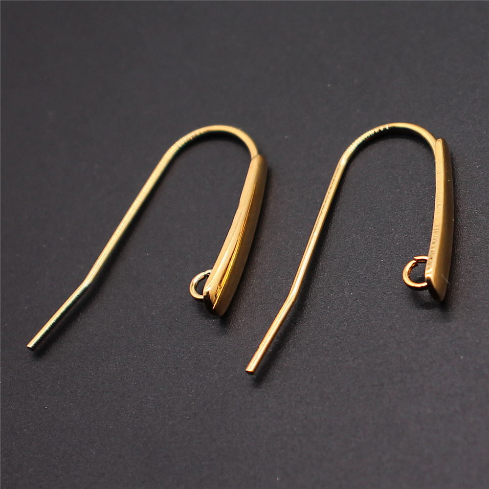 20pcs 12x24mm 2 Colors Stainless Steel Material Ear Wires Earring Hooks Earring Findings Jewelry Findings Jewelry Accessories
