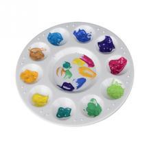 Hinmay, 10 колодцев, пластиковая палитра, художественная краска, пластиковый лоток для рисования, цветная Палитра для масляной, акварельной, белой краски, поддон