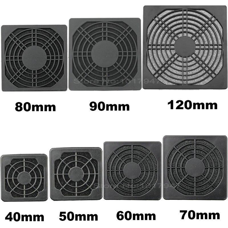 2 pcs Black Dustproof Dust Filter Used for DC Fan 70mm