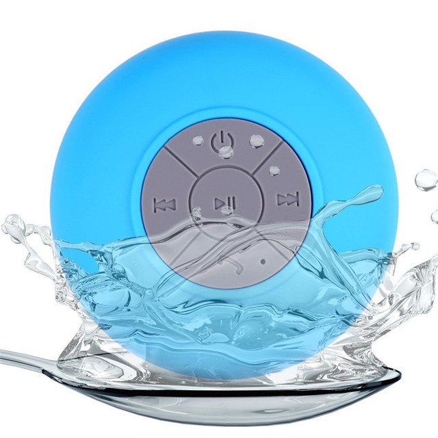 BS001 Mini Hifi Waterproof Wireless Bluetooth Speaker Portable Handsfree  Mic Suction Shower Car Bathroom Speaker