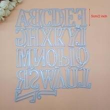 5 см 2 дюйма большие Большие буквы алфавита металлические штампы
