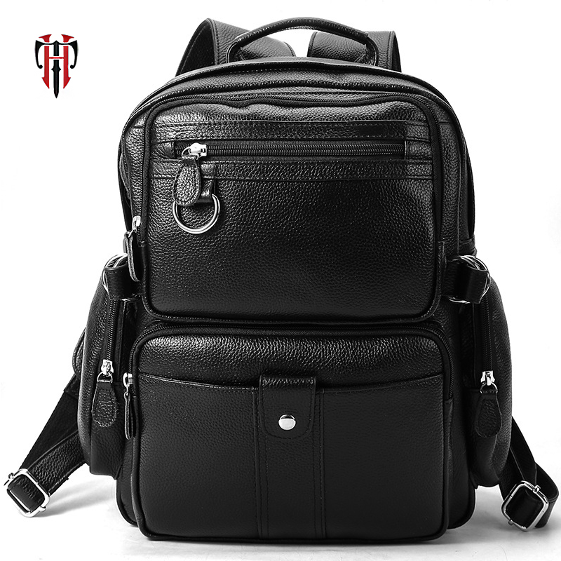 TIANHOO Genuine Soft Leather Backpack Black Litchi Pattern Mens Bag Pack For Travel 13 inch Laptop camping Bags For ipad AirTIANHOO Genuine Soft Leather Backpack Black Litchi Pattern Mens Bag Pack For Travel 13 inch Laptop camping Bags For ipad Air
