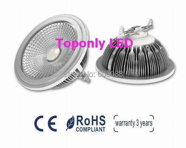 12 w Epistar lugar ar111 cob led lámpara ac110 220 v g53 led CE & ROHS iluminación descendente para reemplazar la lámpara halógena tradicional de 75 w