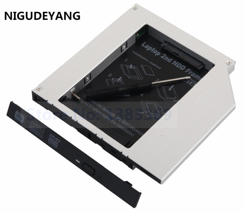 NIGUDEYANG 2nd 12.7mm PATA IDE to SATA Hard Drive HDD SSD Enclosure Caddy Adapter for Apple iMac Early 2008 2007 2006