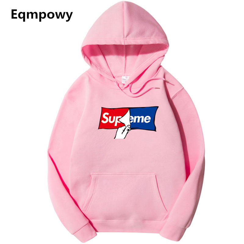 Men'S Hoodies Pink 2018 Autumn New Suprem A Spoof Cartoon Fashion Printing Cotton 1:1 Casual Sweatshirts Men/Women Hoody