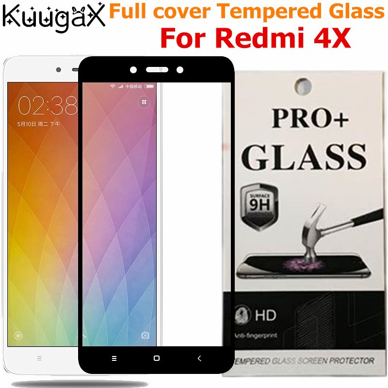 Screen protective all cover Tempered Glass For Xiaomi Redmi 4X 4 5 inch 9H smartphone toughened display cases on crystals Global