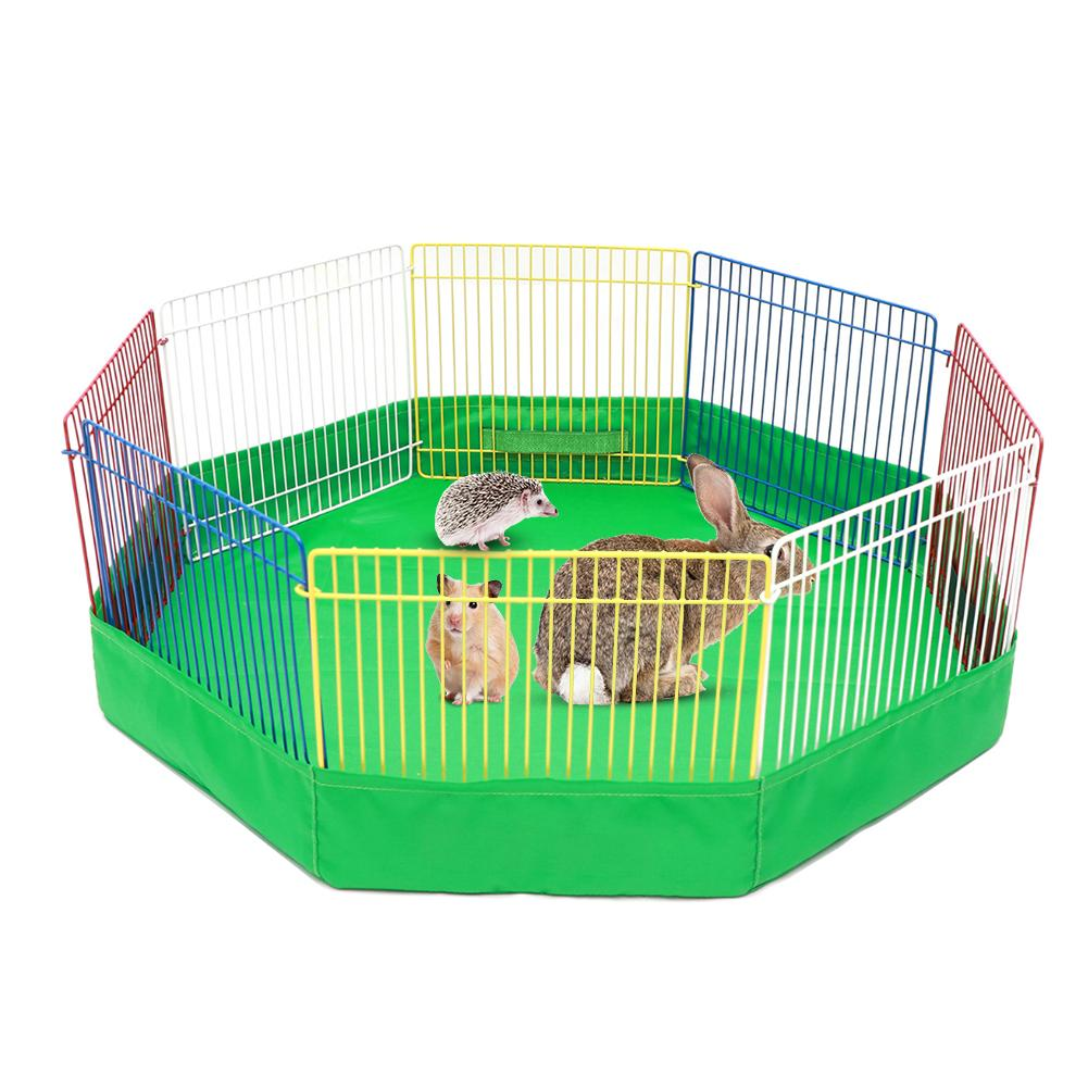 Small Animal Cage Indoor Portable Metal Wire Yard Fence Rabbits Kennel Crate Fence Tent