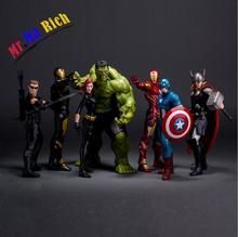 Movie Figure 23cm  Avengers 2 Age Of Ultron Iron Man Black Widow Hawkeye Captain America Thor Hulk Pvc Action Figure Toy Model