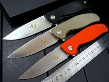 Top quality .Custom Wild Boar F3 Tactical knife 9CR18MOV blade G10 Handle Survival Camping Folding Knife Outdoor tool +Black