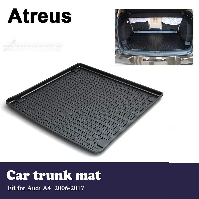 Автомобильный водонепроницаемый коврик для багажника Atreus, напольный коврик для Audi A4 B8 2006 2007 2008 2009 2010 2011 2012 2013 2014 2015 2016 2017