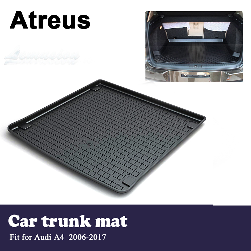 Atreus Car Waterproof Trunk Mat Tray Floor Carpet Pad For Audi A4 B8 2006 2007 2008 2009 2010 2011 2012 2013 2014 2015 2016 2017 car led light for audi a4 b8 s4 a4 allroad 2008 2009 2010 2011 2012 2013 2014 2015 car styling led fog light fog lamp