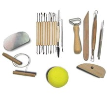 19Pcs Clay Ceramics Molding Tools Wood Knife Pottery Tools Practical Pottery Clay Sculpture 19pcs lot clay ceramics molding tools wood knife pottery tool practical pottery clay sculpture router bit set