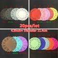 20pcs 4.5inch 11.4cm colorful Round Lace decoupage paper Doilies/Placemat Festival Party Wedding Decoration Scrapbooking doily
