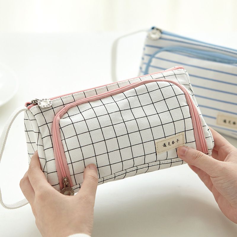 Wholesale Pencil Case High Capacity Pen Case Side Open Zipper School Stationery Make-up Tool Holder Pen Pouch Pencil Bag