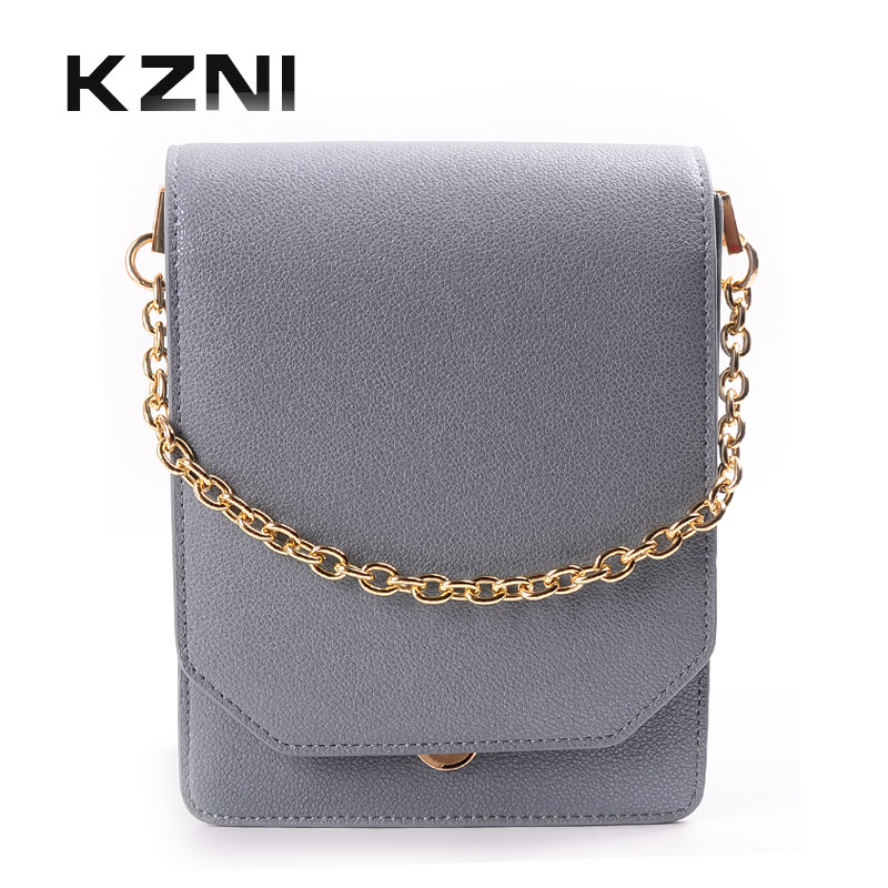 KZNI Crossbody Bags for Women Chain Bag for Girls Women Leather Handbags Female Purses and Handbags Lady Bolsa Feminina 9035 kzni women leather handbags genuine leather handbags women bags for women 2017 cross shoulder bags female bolsa feminina 1432
