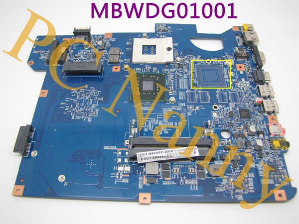 ФОТО Genuine For Gateway NV54  MBWDG01001 48.4bu01.01n ddr2 Laptop Motherboard