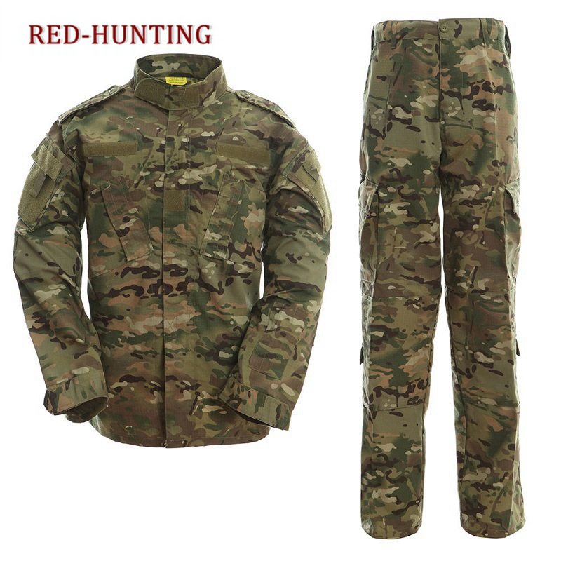 Outdoor Men Military Tactical Shirt Pants Multicam Uniforms ACU FG Camouflage Uniform US Army uniform Airsoft