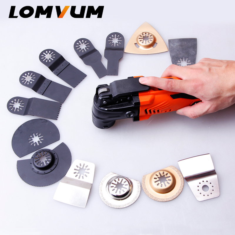 LOMVUM Variable Speed Electric Multifunction Oscillating Tool Kit Electric Trimmer Saw Accessories 300W Trimmer Cutting Machine LOMVUM Variable Speed Electric Multifunction Oscillating Tool Kit Electric Trimmer Saw Accessories 300W Trimmer Cutting Machine