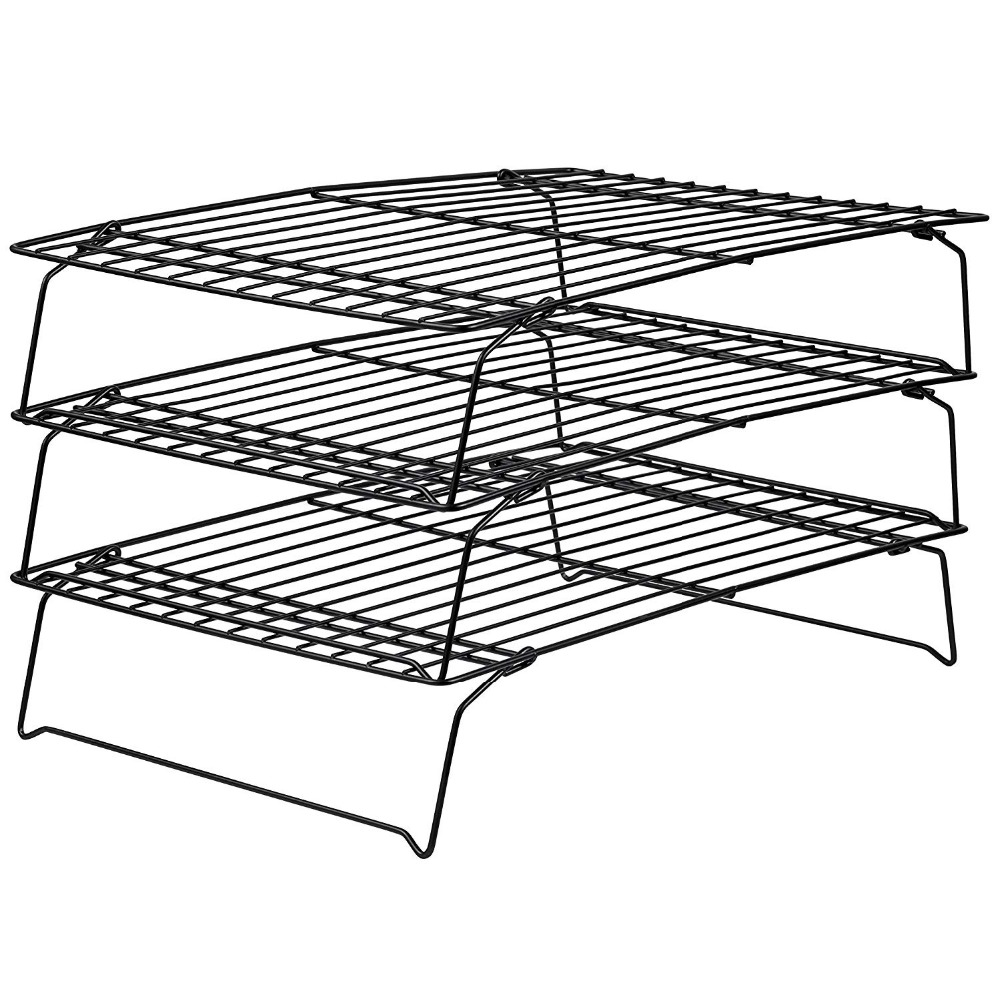 3 Tier Nonstick Carbon Cake Cooling Rack Baking Pan Oven Roasting Holder Cooking Grilling Dry Cooler BBQ Tools