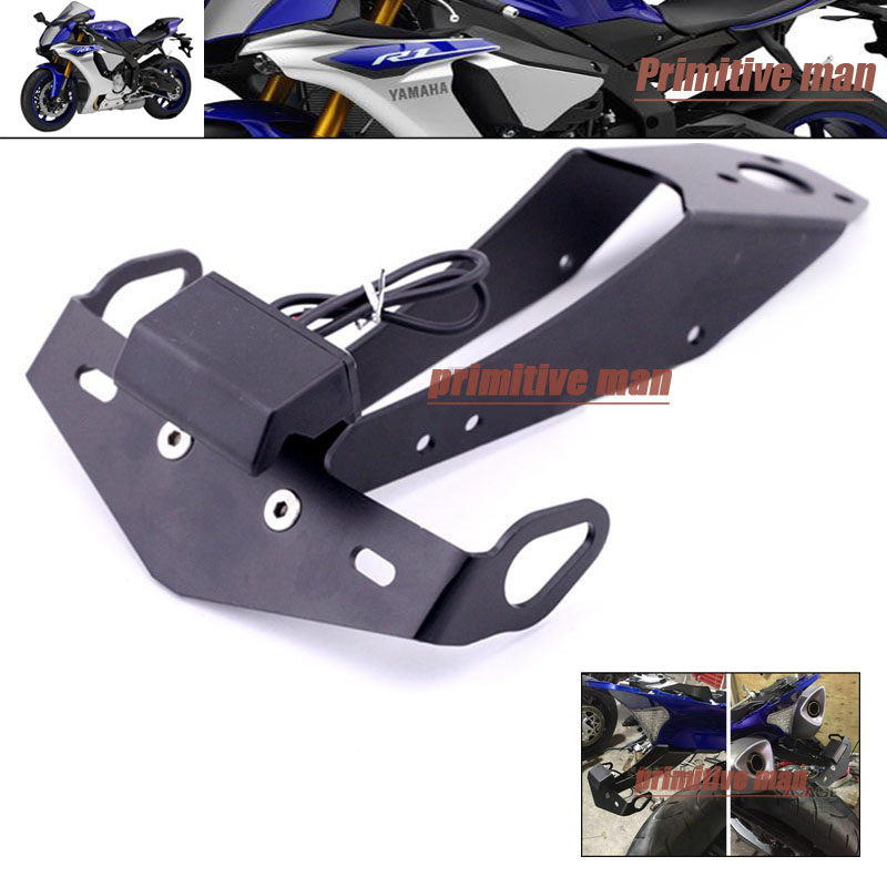 For YAMAHA YZF-R1 YZF R1 YZFR1 2009-2014 Motorcycle Tail Tidy Fender Eliminator Registration License Plate Holder LED Light aftermarket free shipping motorcycle parts eliminator tidy tail fit for 2006 2012 yzf r6 yzf r6 yzfr6
