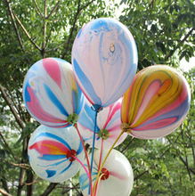 New 12inch 10pcs/lot New Round Rainbow Printed Latex Balloon Birthday Party Wedding Decoration Balloon Colorful Printed Balloons
