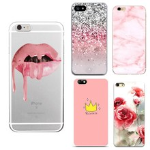 Soft Silicone Case for iphone 5s 5 SE 6 6s 6 7 8 plus Summer Floral Flower Pattern Phone Case For iphone 7 Case