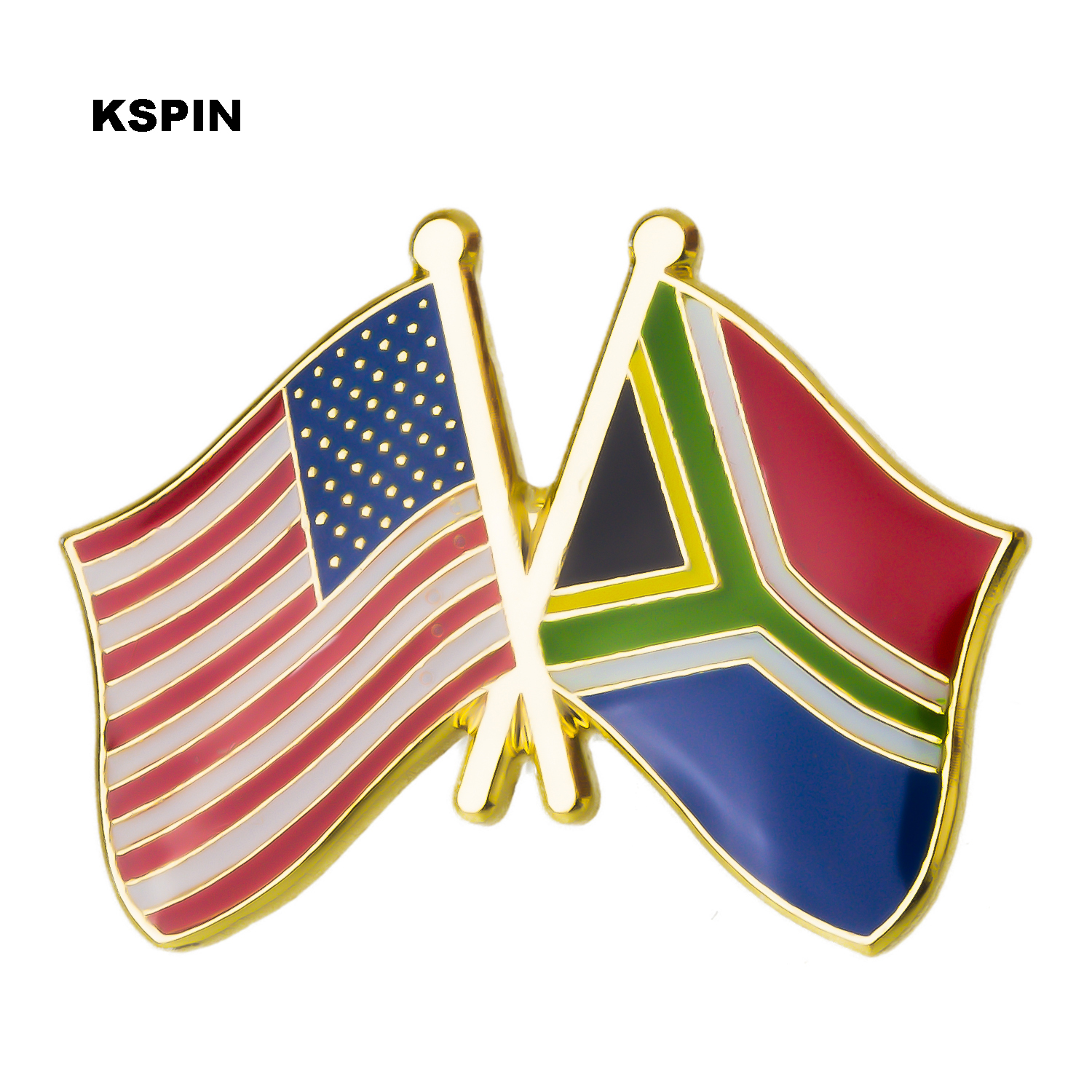 Badges Apparel Sewing & Fabric U.s.a South Africa Friendship Flag Metal Pin Badges For Clothes In Badges Button On Brooch Plating Brooches For Jewelry Skillful Manufacture