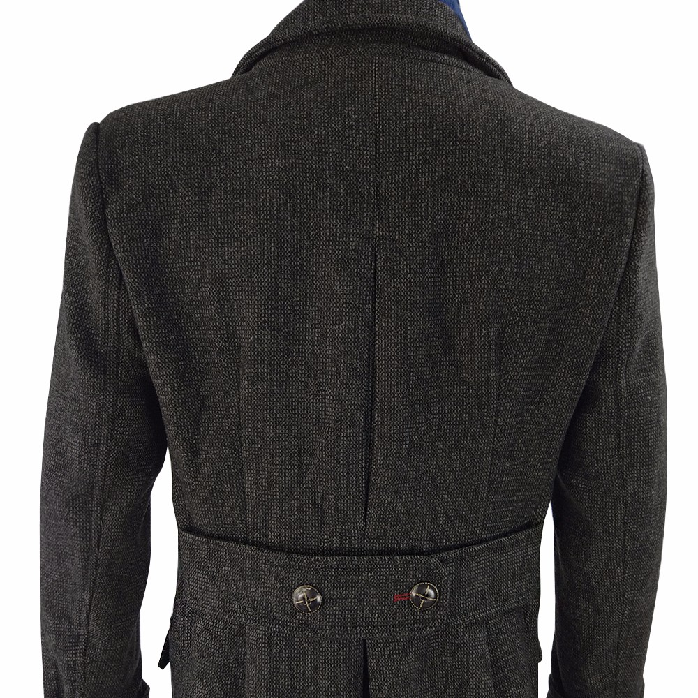 Sherlock Holmes Cape Coat Costume Cosplay Jacket Wool Christmas Gift With Scarf10