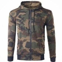 Ausländischen Zeichen Militärischen stil camouflage beiläufigen mit kapuze Hoodies strickjacke reine