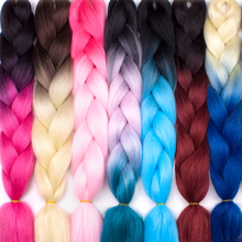ELEGANT MUSES Two Three Tone Color Crochet Hair Extensions Kanekalon Hair Ombre Jumbo Braids Synthetic Braiding Hair Extensions