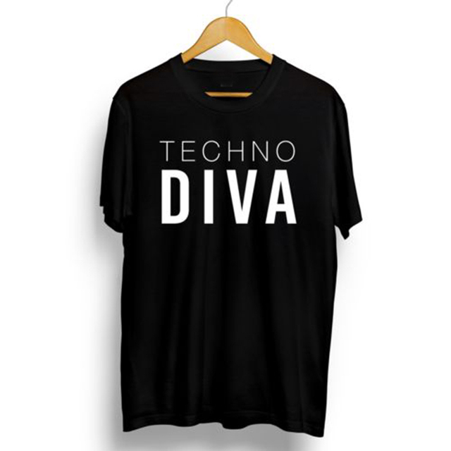 eb4851f90 T Shirt Techno Clothing Diva Tshirt Plus Size Shirts Tops Creative Diva  Techno Gothic Music Graphic Tees Women Fashion XS 3XL-in T-Shirts from  Women's ...