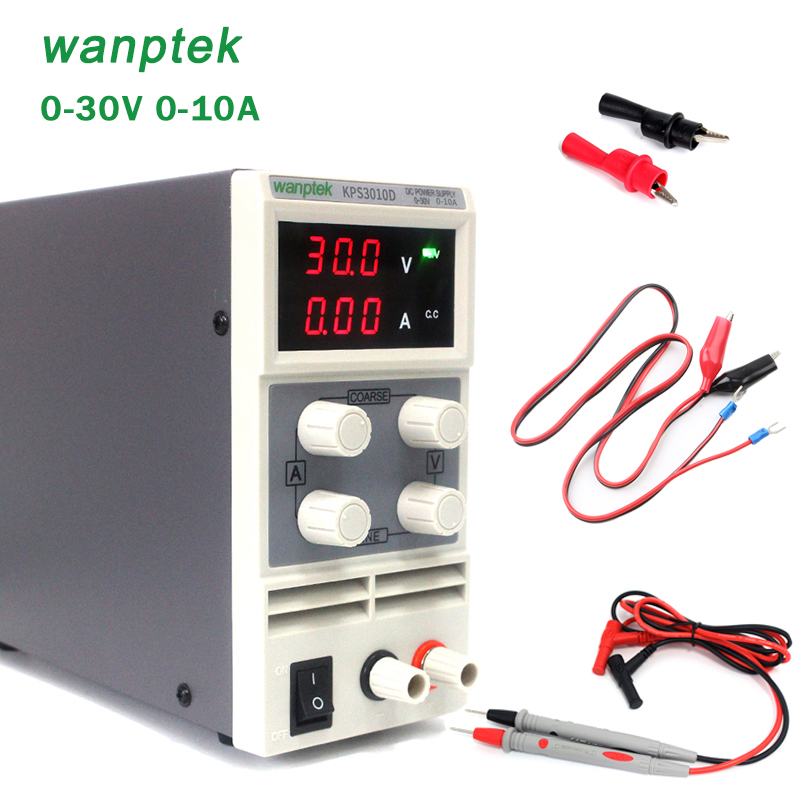 wanptek DC Power Supply Adjustable Digital DC power supply 30V 10A Switching Power supply certification cps 3010ii 0 30v 0 10a low power digital adjustable dc power supply cps3010 switching power supply
