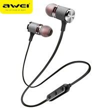 AWEI T12 Bluetooth наушники Беспроводной наушники гарнитура для телефона спортивные наушники с микрофоном Bluetooth CSR V4.2 Super Bass динамик