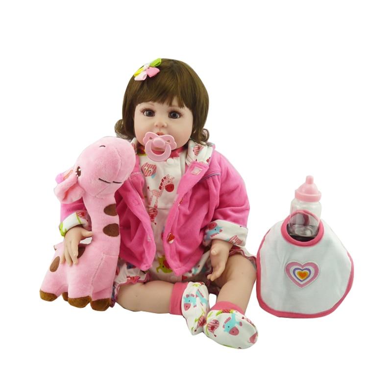 "20"" New arrival Handmade Silicone vinyl adorable Lifelike toddler Baby Bonecas girl kid bebe doll reborn menina de silicone"