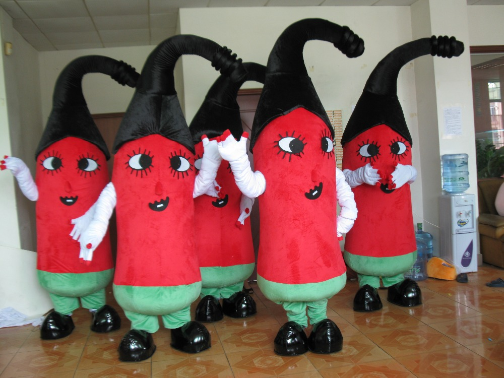 Red Hot Chili Peppers Mascot Costume Adult Character Costume Cosplay mascot costume for Halloween party event