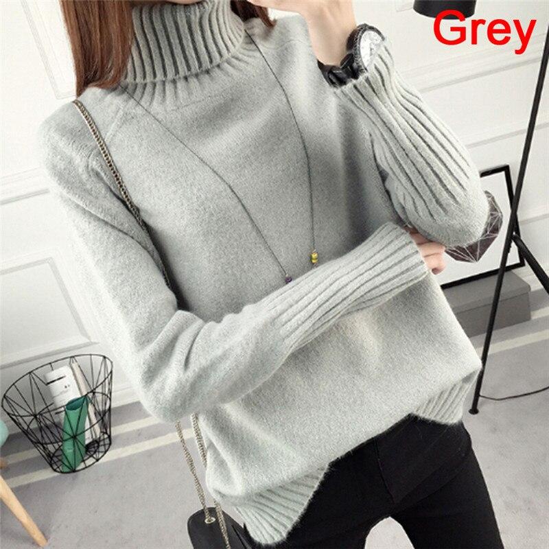 Autumn Winter Collar Sweater Women's New Design Green Thick Jersey Women's Sweater And Jumper Female Jumper Tops  1  Sweater