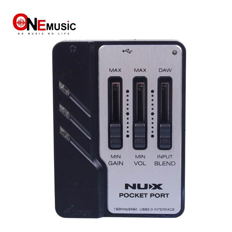 Interface Audio USB pour guitare Portable à Port de poche NUX conçue pour l'enregistrement de guitare!